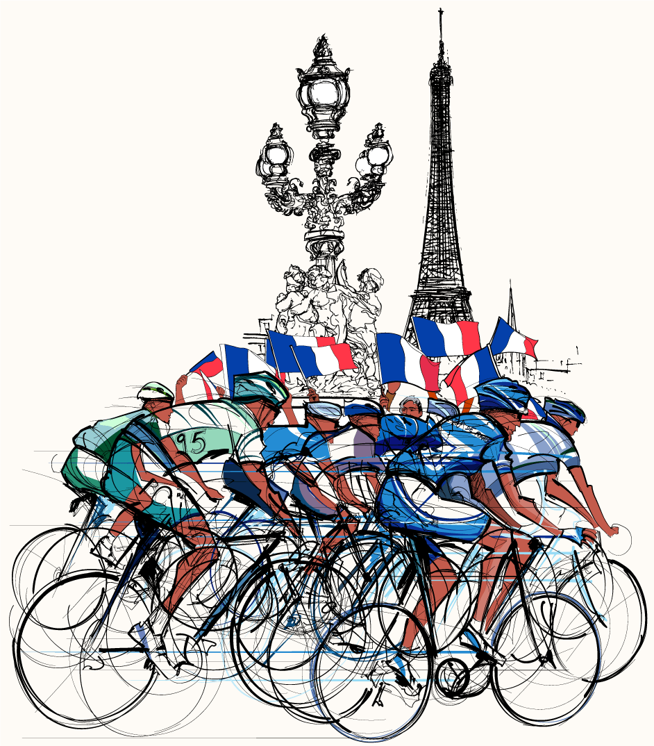 Eine Tour De France-Grafik
